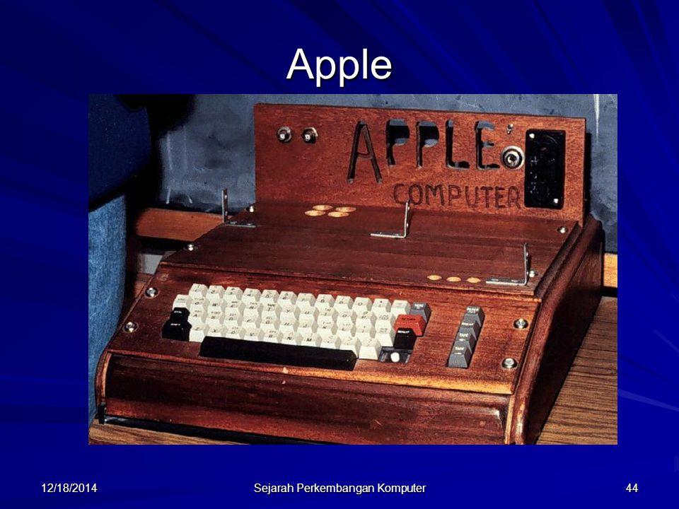 12/18/2014 Sejarah Perkembangan Komputer 44 Apple