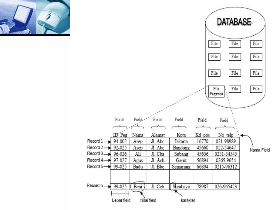 Jenis-jenis Database  Database operasional  Database Terdistribusi  Database eksternal  Database hipermedia