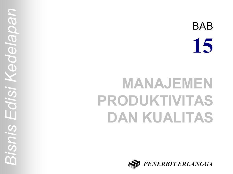 Bisnis Edisi Kedelapan BAB 15 MANAJEMEN PRODUKTIVITAS DAN KUALITAS PENERBIT ERLANGGA