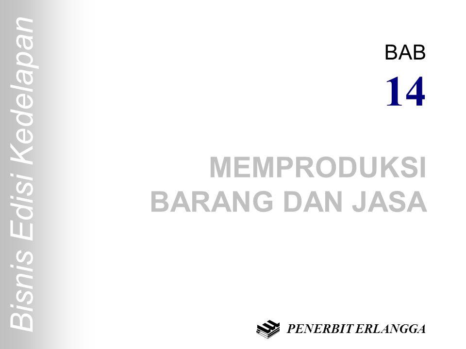 Bisnis Edisi Kedelapan BAB 14 MEMPRODUKSI BARANG DAN JASA PENERBIT ERLANGGA