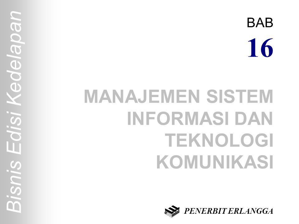 Bisnis Edisi Kedelapan BAB 16 MANAJEMEN SISTEM INFORMASI DAN TEKNOLOGI KOMUNIKASI PENERBIT ERLANGGA