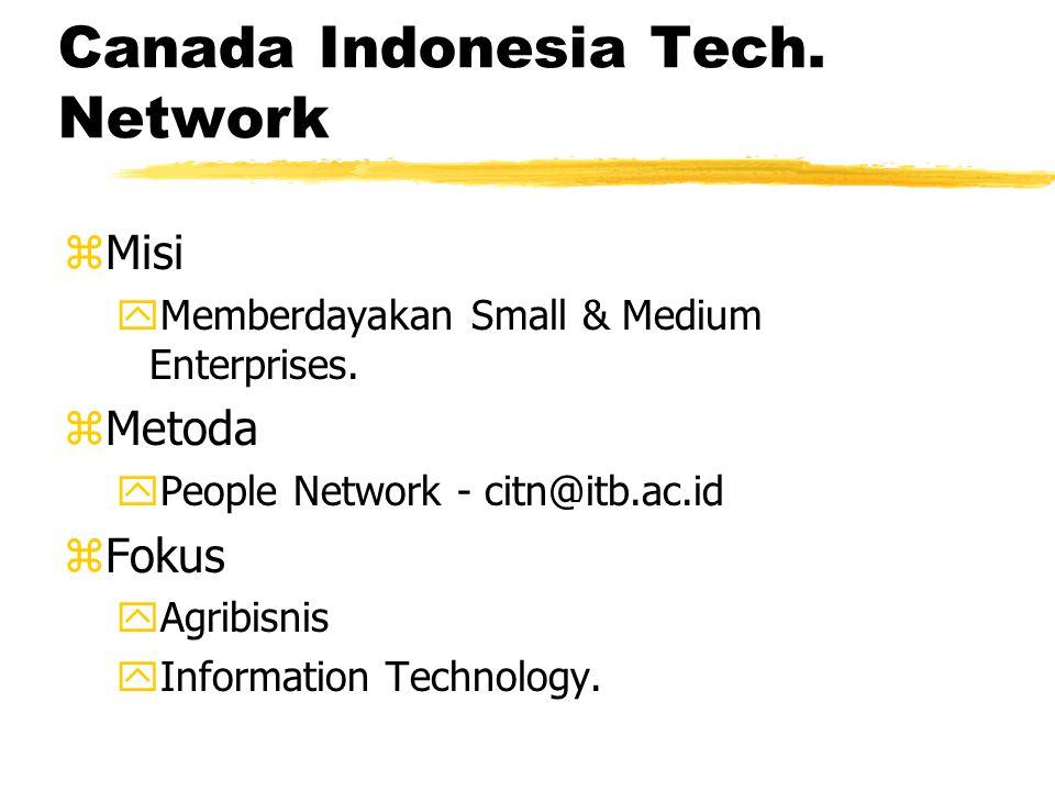 Canada Indonesia Tech. Network zMisi yMemberdayakan Small & Medium Enterprises.