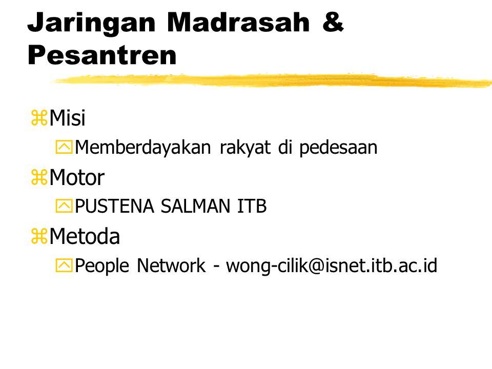 Jaringan Madrasah & Pesantren zMisi yMemberdayakan rakyat di pedesaan zMotor yPUSTENA SALMAN ITB zMetoda yPeople Network - wong-cilik@isnet.itb.ac.id