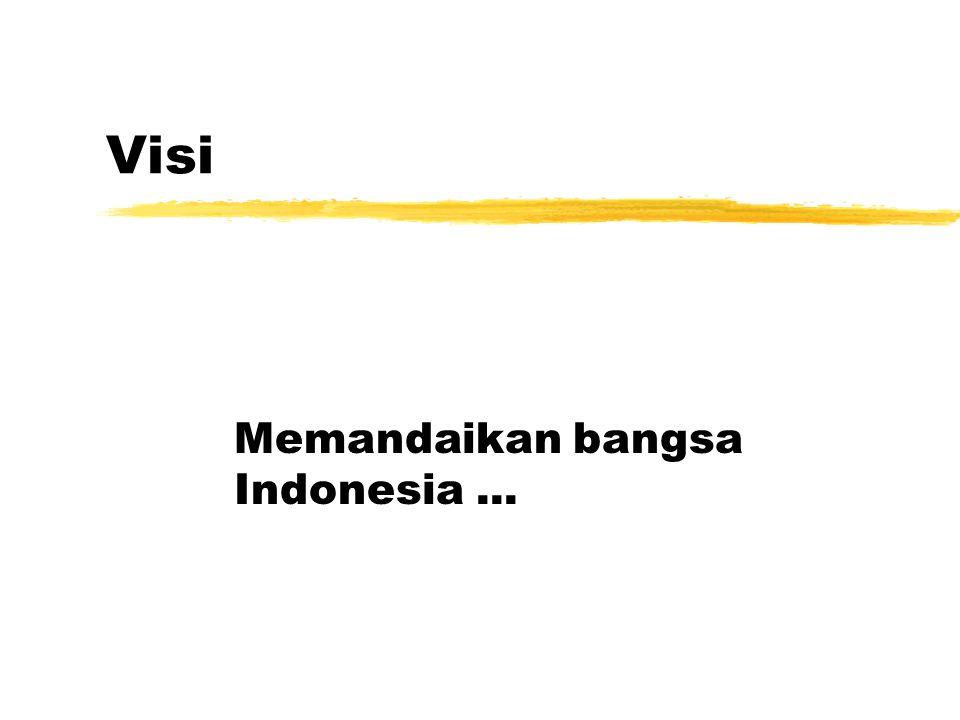 Visi Memandaikan bangsa Indonesia...