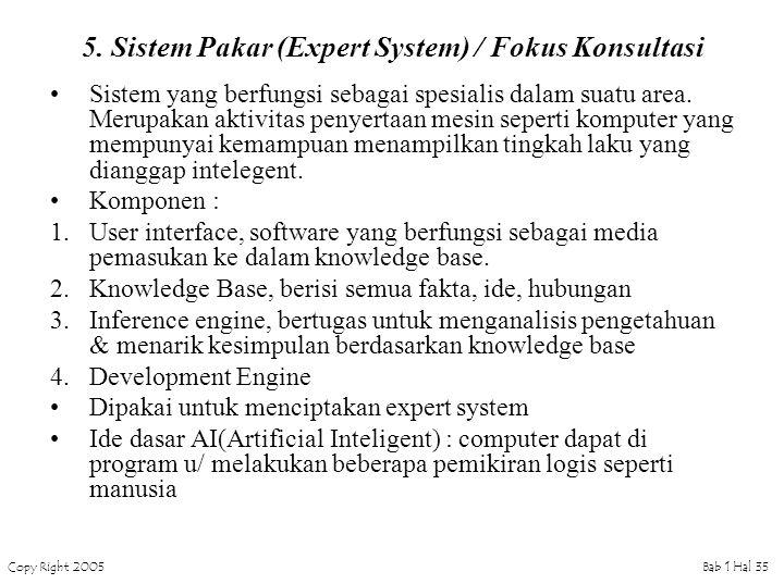 Copy Right 2005Bab 1 Hal 35 5.