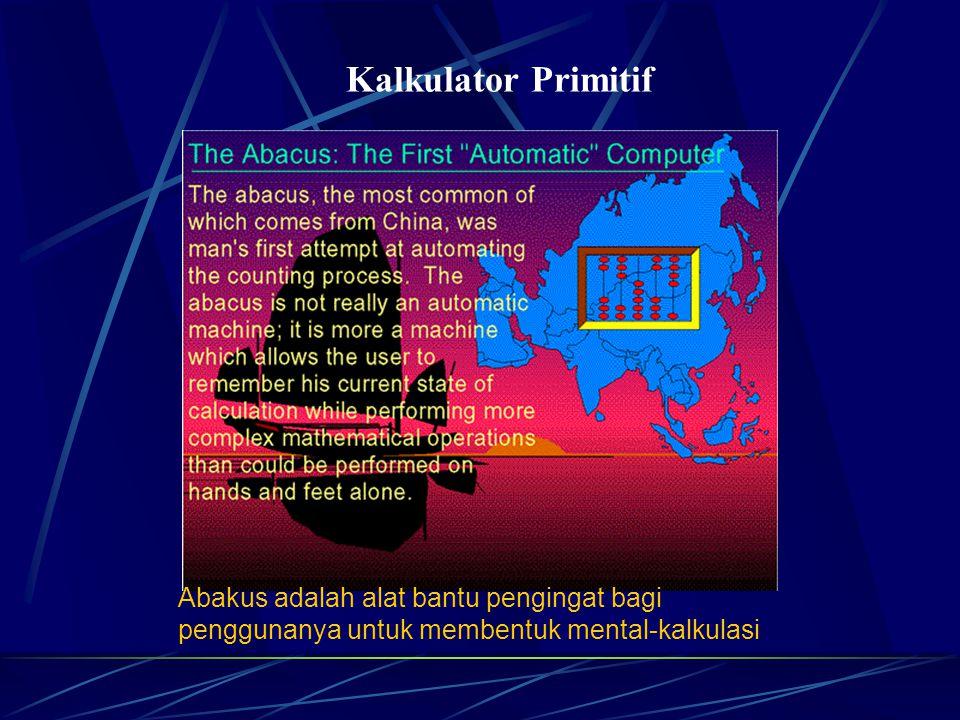 Kalkulator Primitif Abakus adalah alat bantu pengingat bagi penggunanya untuk membentuk mental-kalkulasi