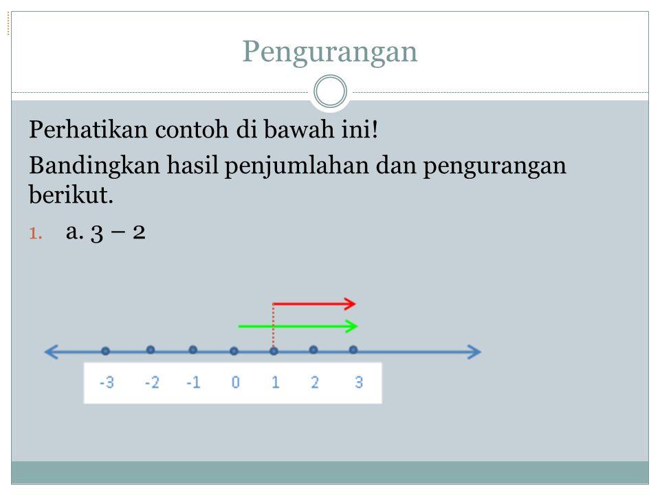 Jadi, -3 + 4 =... Kesimpulan apa yang bisa kalian dapat dari permasalahan 4 dan 5 di atas?
