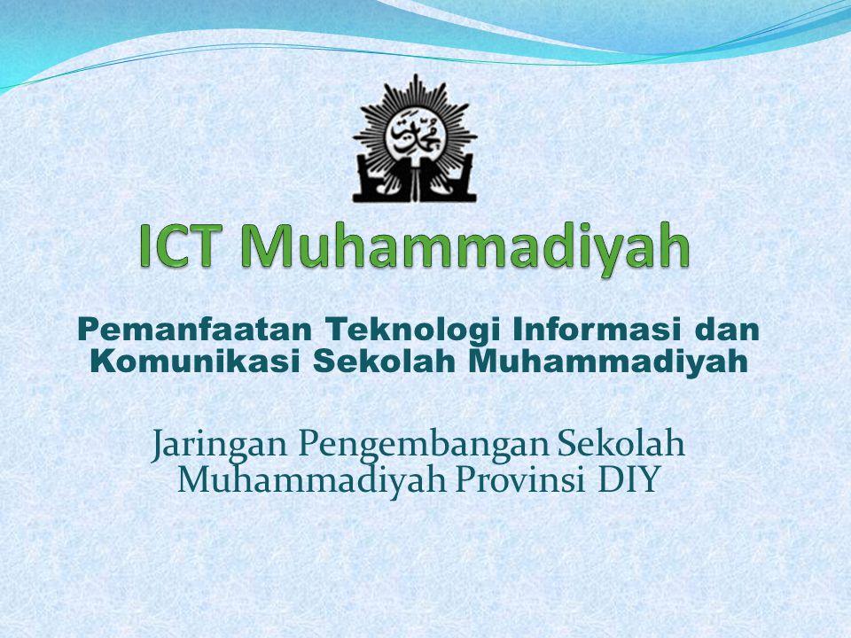 Pemanfaatan Teknologi Informasi dan Komunikasi Sekolah Muhammadiyah Jaringan Pengembangan Sekolah Muhammadiyah Provinsi DIY