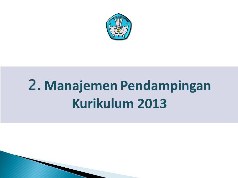 2. Manajemen Pendampingan Kurikulum 2013