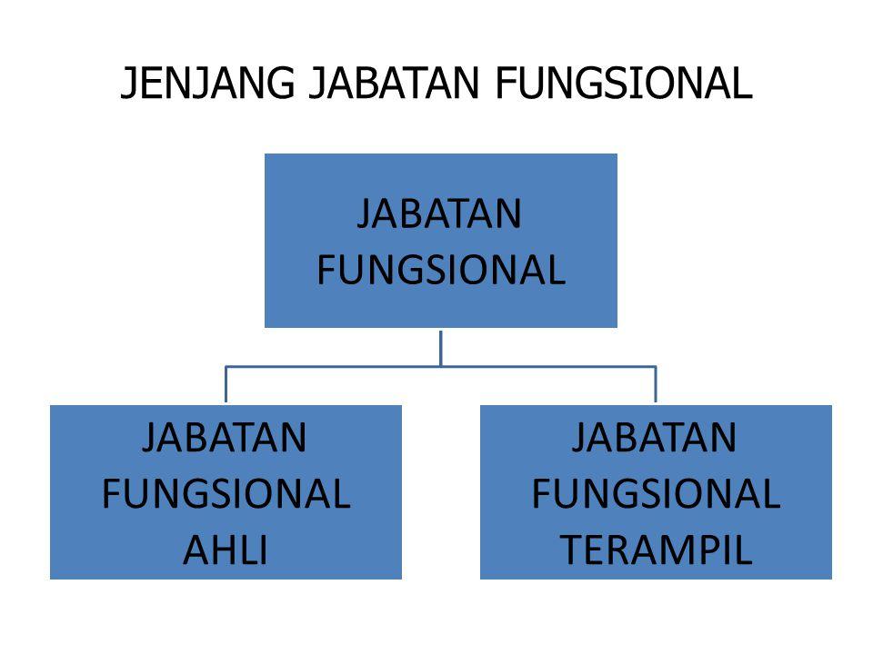 JENJANG JABATAN FUNGSIONAL