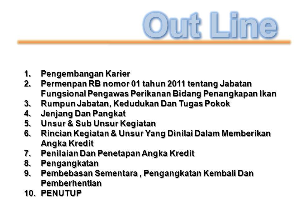 1.Pengembangan Karier 2.Permenpan RB nomor 01 tahun 2011 tentang Jabatan Fungsional Pengawas Perikanan Bidang Penangkapan Ikan 3.Rumpun Jabatan, Kedud