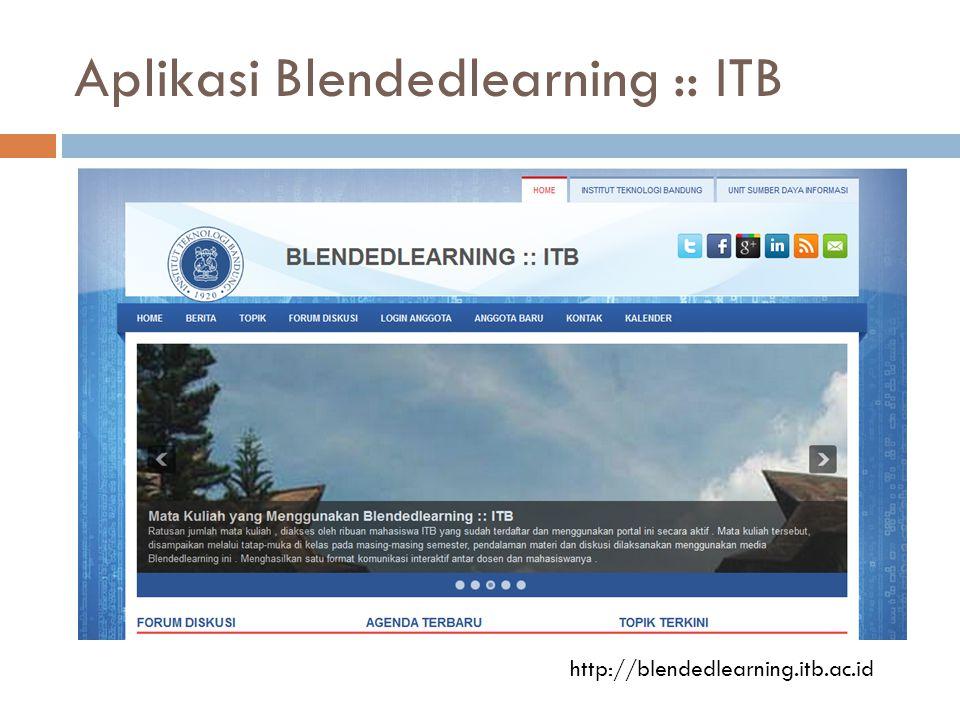 Aplikasi Blendedlearning :: ITB http://blendedlearning.itb.ac.id