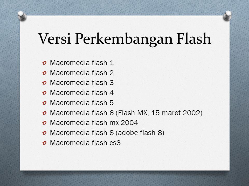 Kelebihan Flash o Format Grafis o Kapasitas File o Interaktif o Kemampuan Disain o Keaneragaman (bentuk aplikasi yang dapat dibuat flash : game, kartun, halaman situs web, aplikasi mutimedia, web database, presentasi, banner, media promosi, Iklan, Video, Media pembelajaran) o Integritas dengan aplikasi lain (flash dapat berkomunikasi dengan server melalui bahsa pemrograman web sperti ASP, PHP, JAVA SCRIPT, XML, CGI Script dll..Software berbasis datbase : MS.