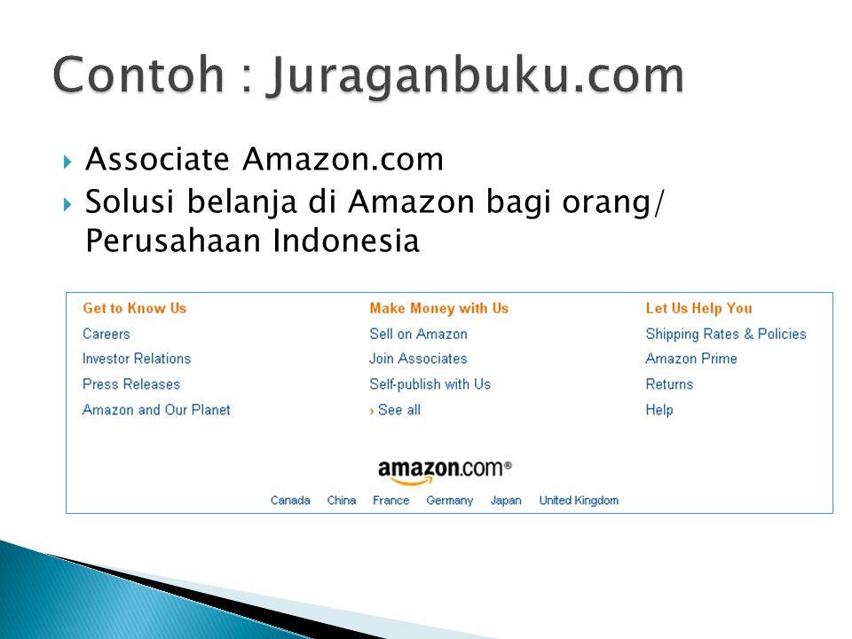  Associate Amazon.com  Solusi belanja di Amazon bagi orang/ Perusahaan Indonesia