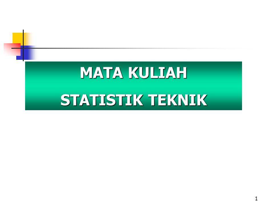 1 MATA KULIAH STATISTIK TEKNIK