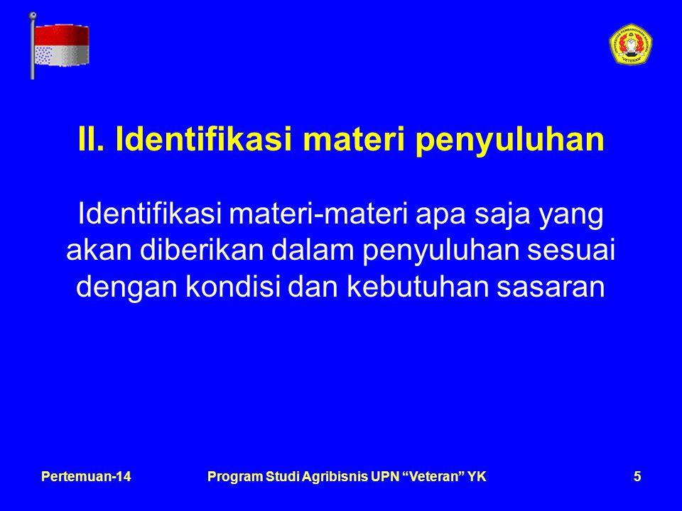 6Pertemuan-14Program Studi Agribisnis UPN Veteran YK III.