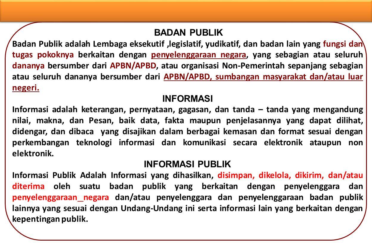 HAK PEMOHON INFORMASI (Pasal 4) KEWAJIBAN PENGGUNA INFORMASI (Pasal 5) 1.Pengguna Informasi Publik wajib menggunakan Informasi Publik sesuai dengan ketentuan peraturan perundang-undangan.