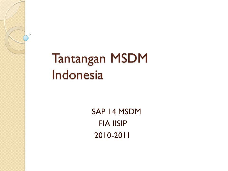 Tantangan MSDM Indonesia SAP 14 MSDM FIA IISIP 2010-2011
