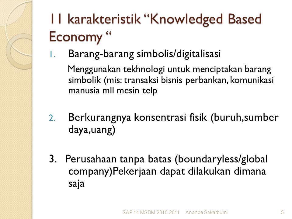 11 karakteristik Knowledged Based Economy 1.