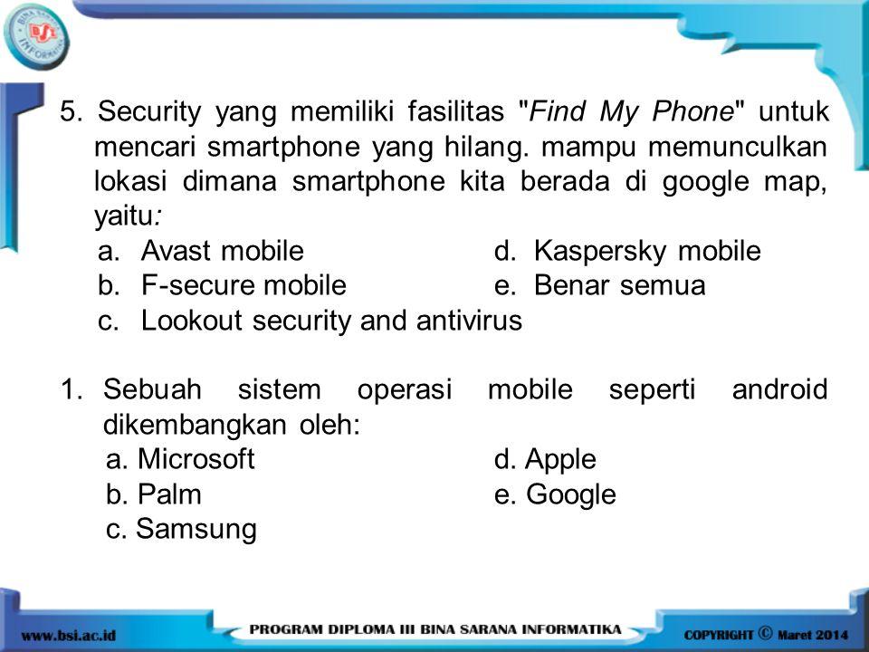 5. Security yang memiliki fasilitas