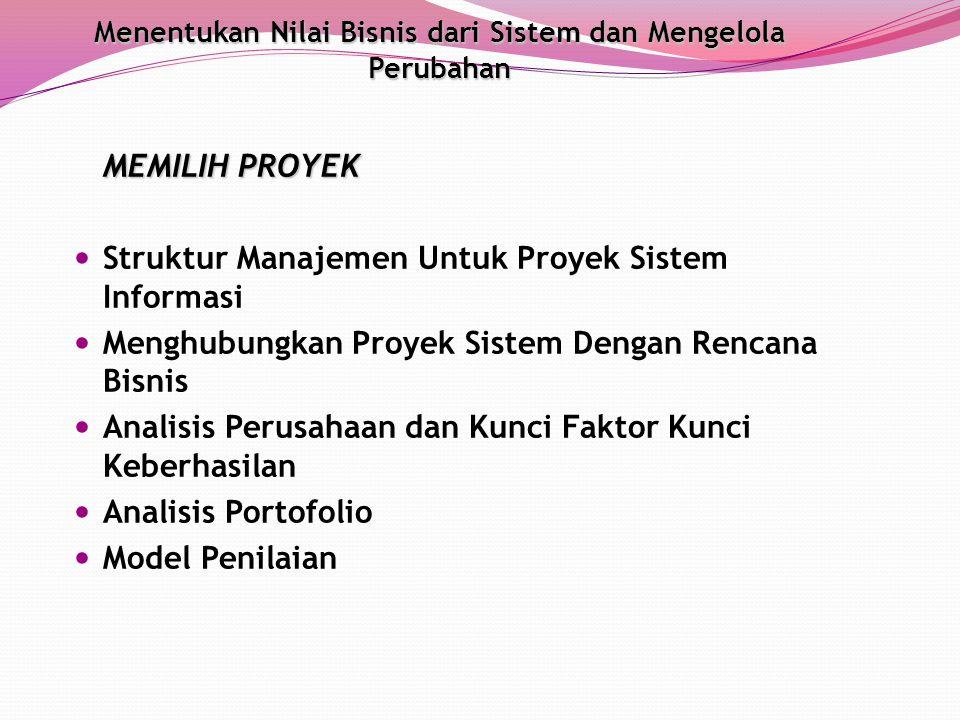 Struktur Manajemen Untuk Proyek Sistem Informasi