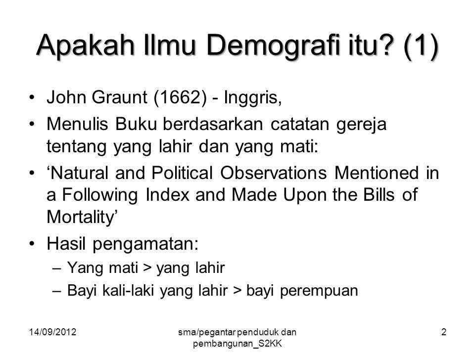 Apakah Ilmu Demografi itu.