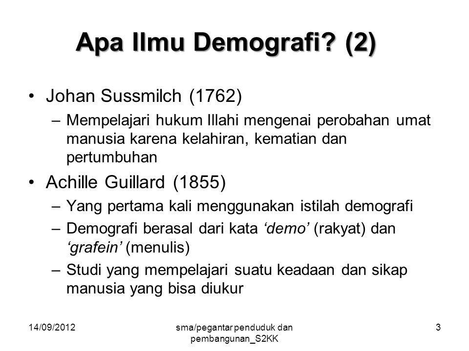 14/09/2012sma/pegantar penduduk dan pembangunan_S2KK 3 Apa Ilmu Demografi.