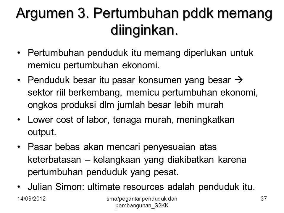 14/09/2012sma/pegantar penduduk dan pembangunan_S2KK 37 Argumen 3.