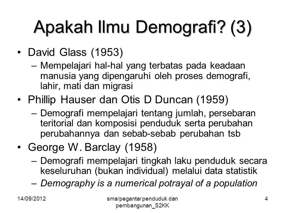 14/09/2012sma/pegantar penduduk dan pembangunan_S2KK 75 Population is not just number Berkembang pendapat bahwa pengendalian penduduk mengabaikan hak-hak perempuan dan HAM International Conference on Population and Development (ICPD) 1994.
