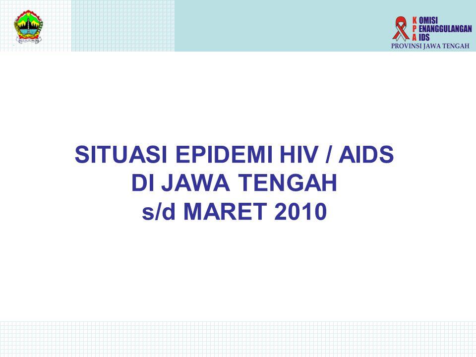 SITUASI EPIDEMI HIV / AIDS DI JAWA TENGAH s/d MARET 2010