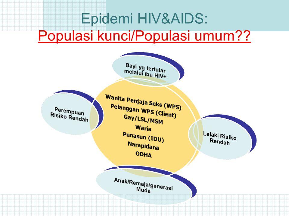 Epidemi HIV&AIDS: Populasi kunci/Populasi umum