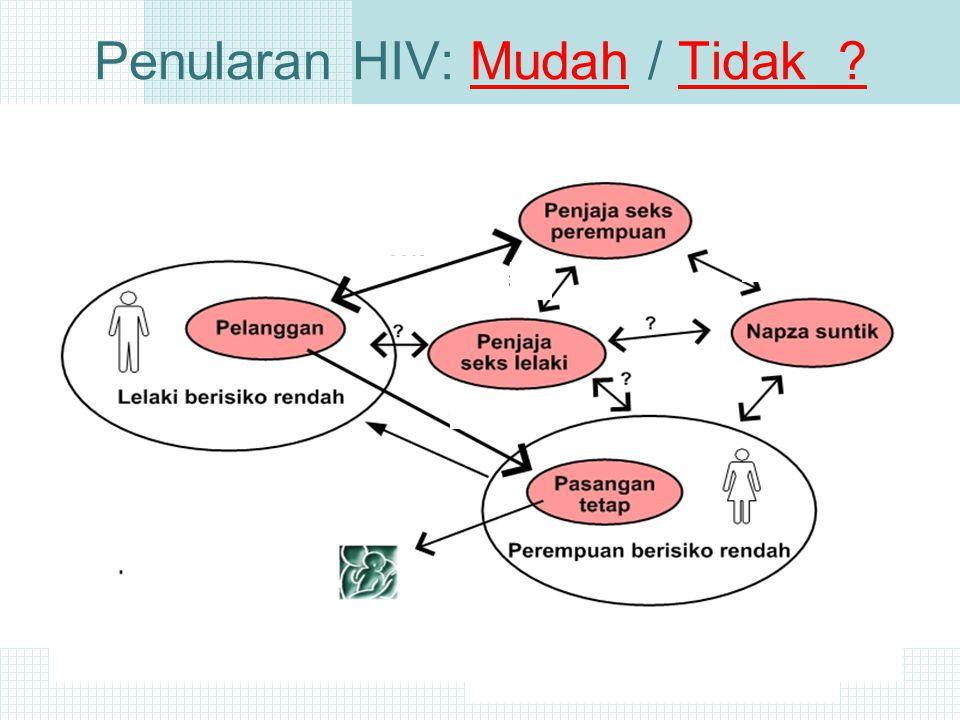 Penularan HIV: Mudah / Tidak ?