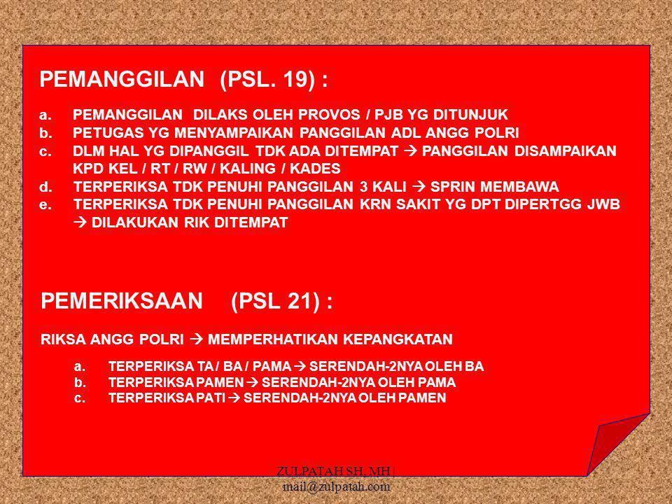 PEMANGGILAN (PSL.