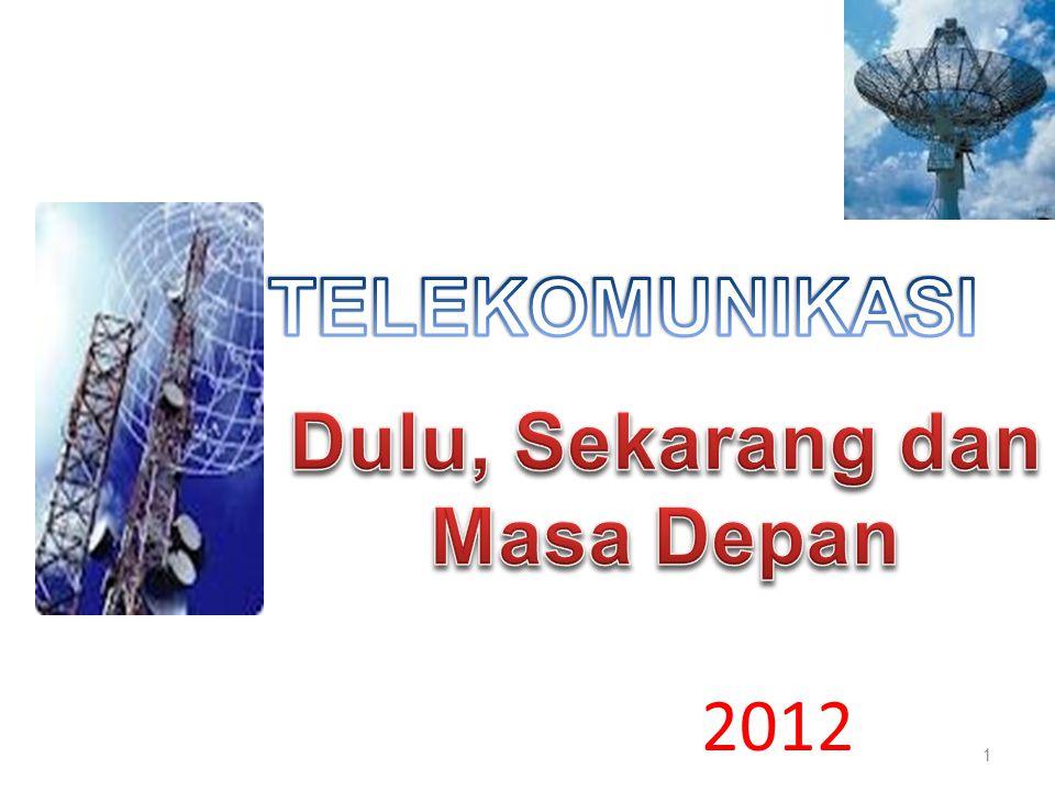 Sejarah Telekomunikasi 1.Dulu 2.Sekarang 3.Masa Depan 2