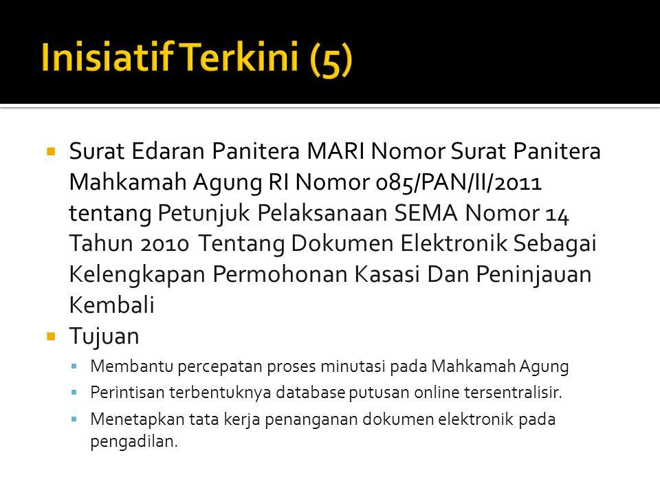  Surat Edaran Panitera MARI Nomor Surat Panitera Mahkamah Agung RI Nomor 085/PAN/II/2011 tentang Petunjuk Pelaksanaan SEMA Nomor 14 Tahun 2010 Tentan