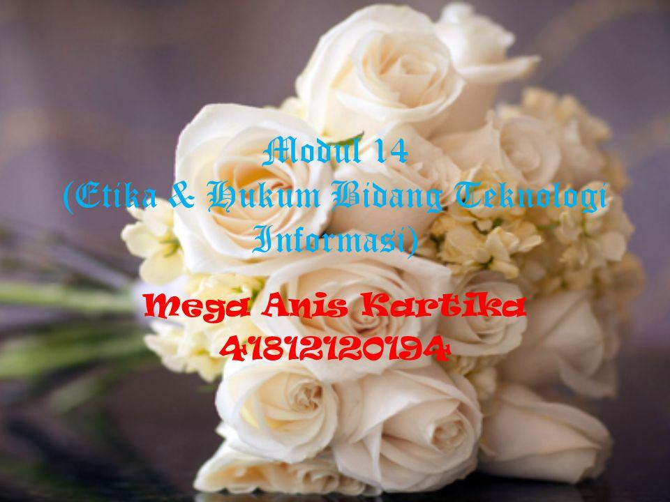 Modul 14 (Etika & Hukum Bidang Teknologi Informasi) Mega Anis Kartika 41812120194