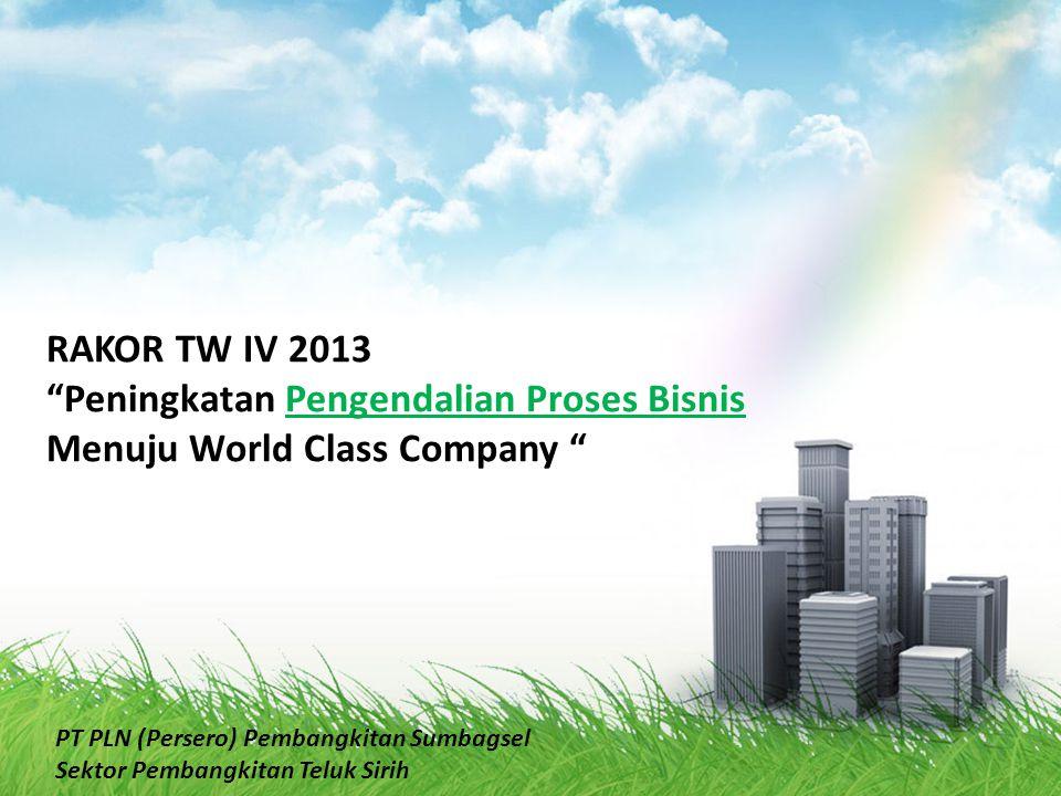 """RAKOR TW IV 2013 """"Peningkatan Pengendalian Proses Bisnis Menuju World Class Company """" PT PLN (Persero) Pembangkitan Sumbagsel Sektor Pembangkitan Telu"""