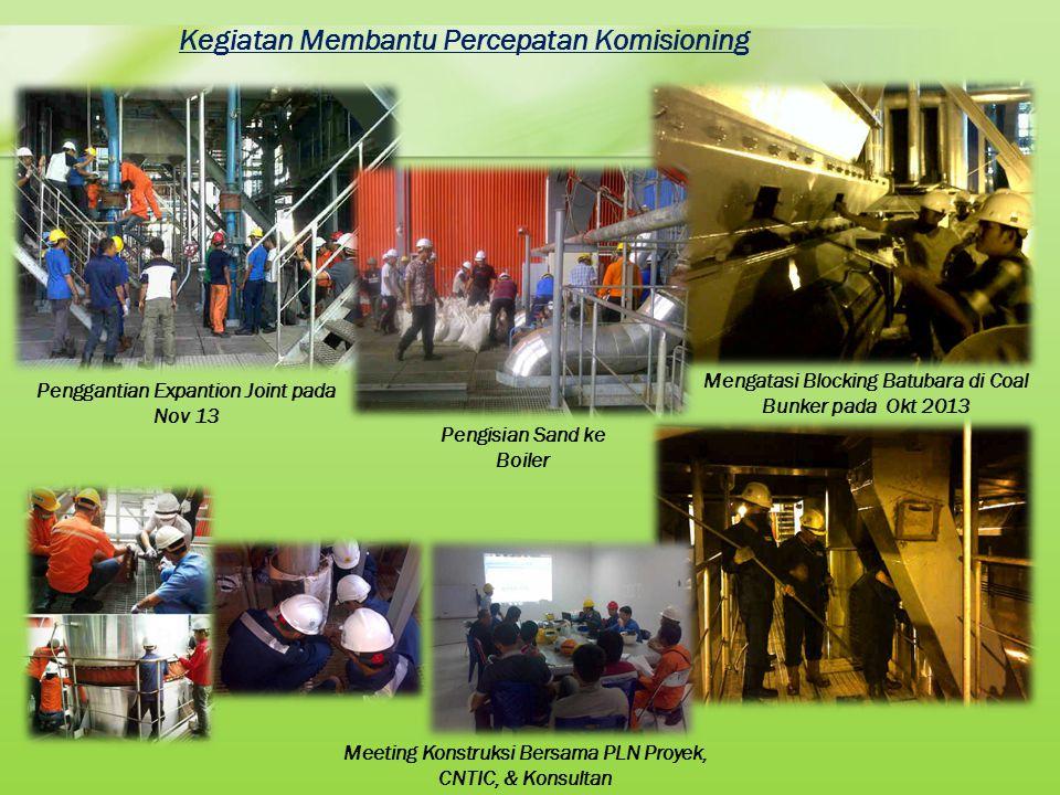 Kegiatan Membantu Percepatan Komisioning Penggantian Expantion Joint pada Nov 13 Mengatasi Blocking Batubara di Coal Bunker pada Okt 2013 Pengisian Sa