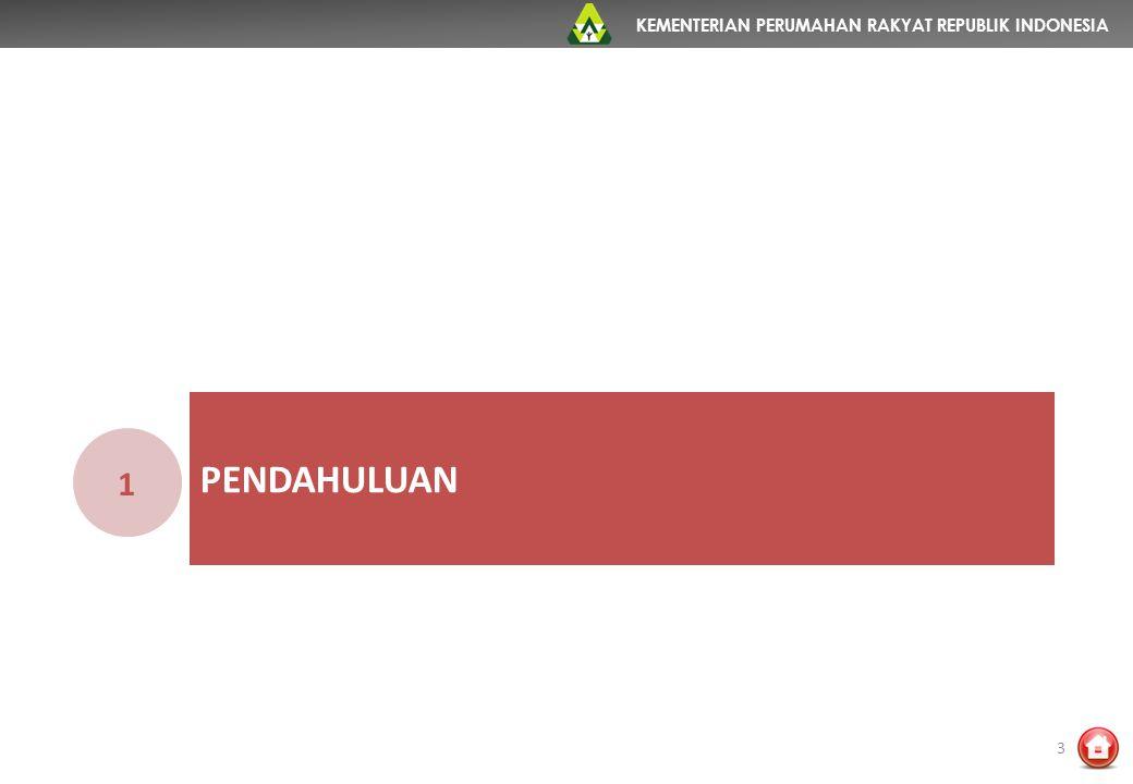 KEMENTERIAN PERUMAHAN RAKYAT REPUBLIK INDONESIA PENDAHULUAN 1 3