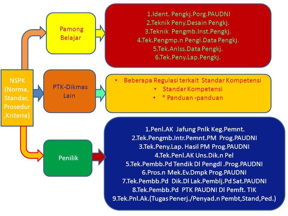NSPK (Norma, Standar, Prosedur,Kriteria) Pamong Belajar 1.Ident.