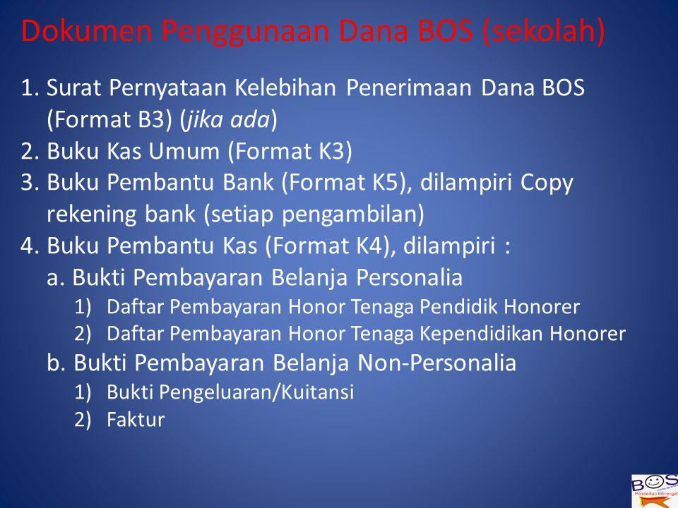 Dokumen Penggunaan Dana BOS (sekolah) 1.