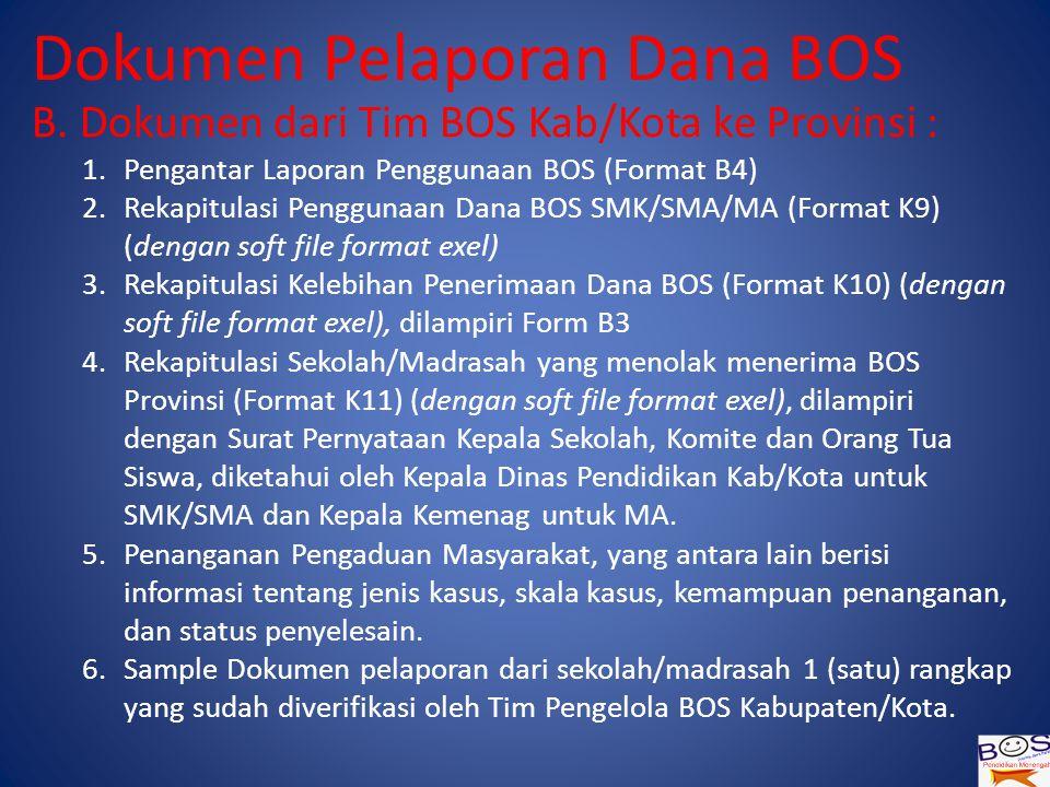 Dokumen Pelaporan Dana BOS B.