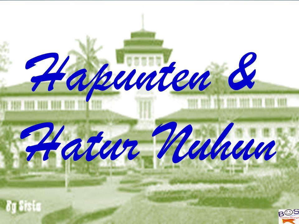 Hapunten & Hatur Nuhun