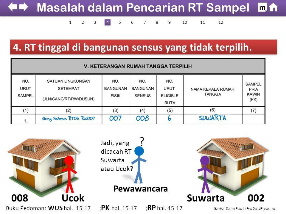 4. RT tinggal di bangunan sensus yang tidak terpilih.