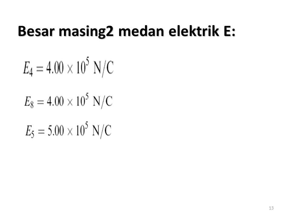 13 Besar masing2 medan elektrik E: