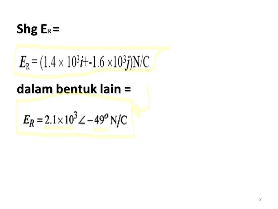8 Shg E R = dalam bentuk lain =