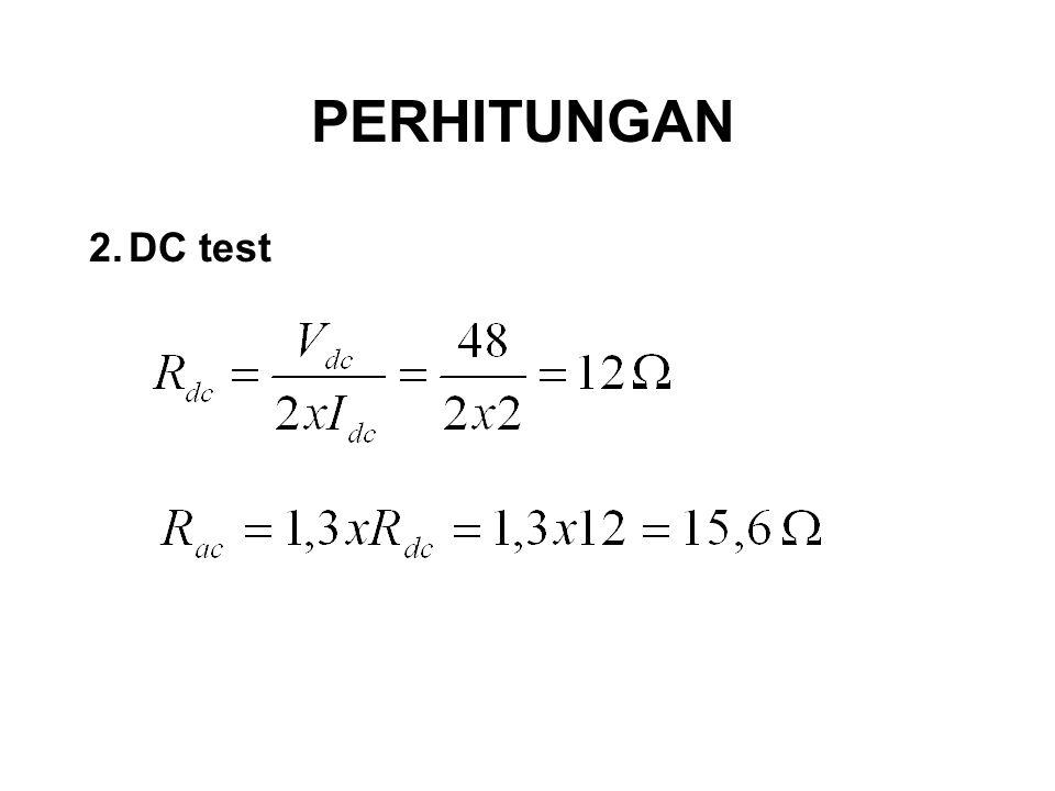 2.DC test PERHITUNGAN
