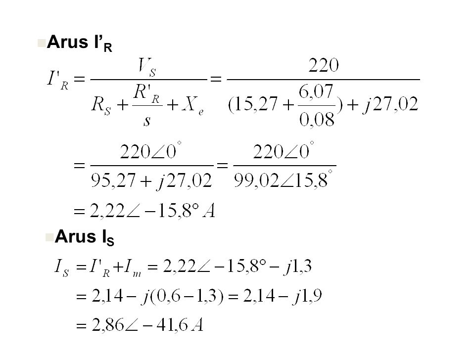 Arus I' R Arus I S