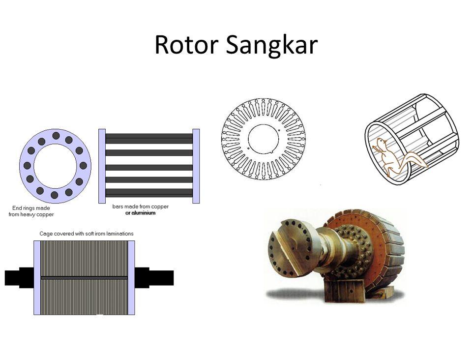 Impedansi rotor efektif berdasar pada stator adalah : Berdasarkan rangkaian pada gambar, maka Tegangan per-phasa adalah :