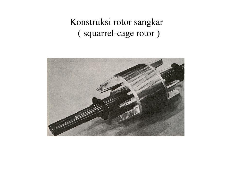 Slip motor: – Jika n r = 1380 rpm, maka n s yang mungkin pada frekuensi 50 Hz adalah 1500 rpm shg: